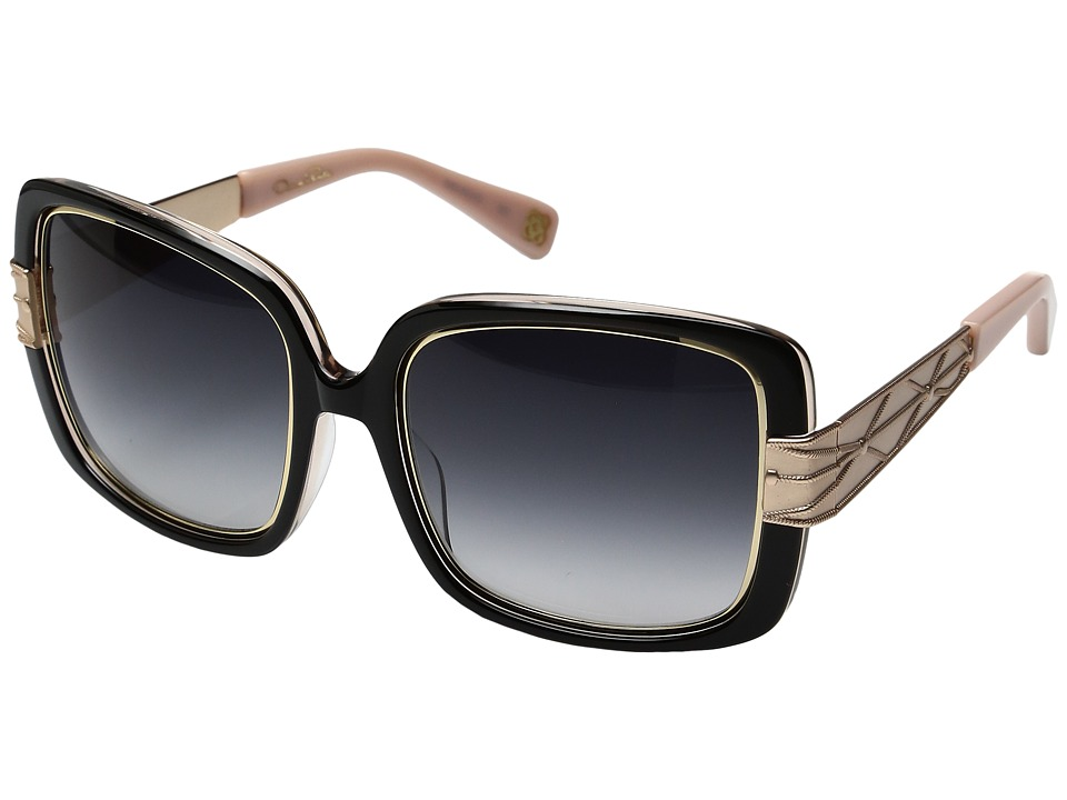 Oscar de la Renta - ODLRS-222 (Black/Taupe) Fashion Sunglasses