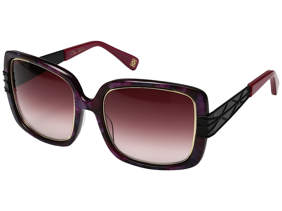 Oscar de la Renta - ODLRS-222 (Berry/Pink) Fashion Sunglasses