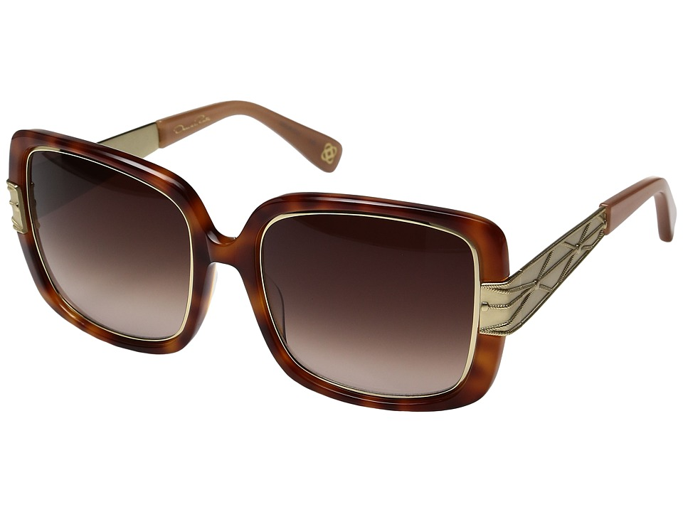 Oscar de la Renta - ODLRS-222 (Honey Tortoise) Fashion Sunglasses