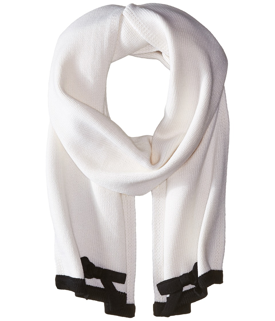 Kate Spade New York - Contrast Bow Muffler (Cream/Black) Scarves