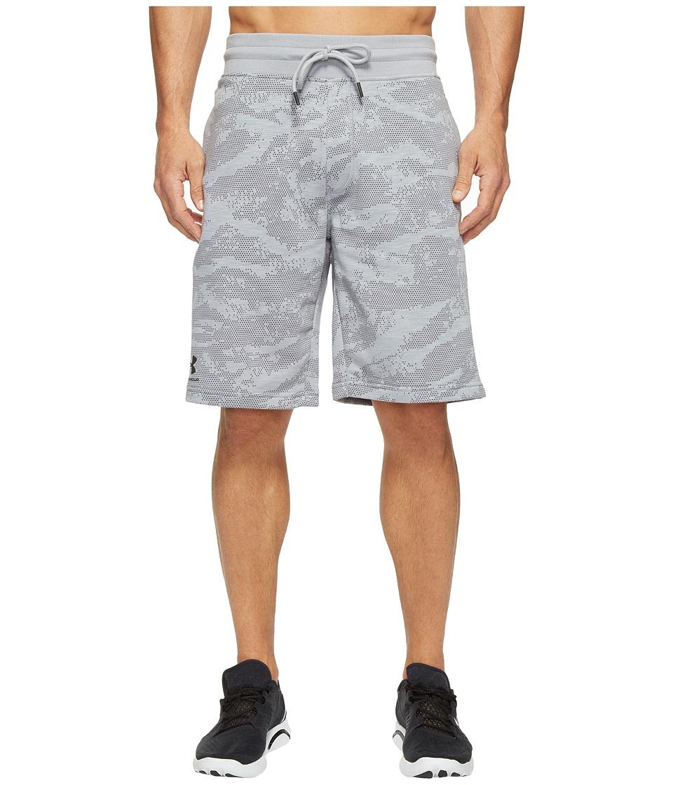 Under Armour - Camo Fleece Shorts (Steel) Men's Shorts