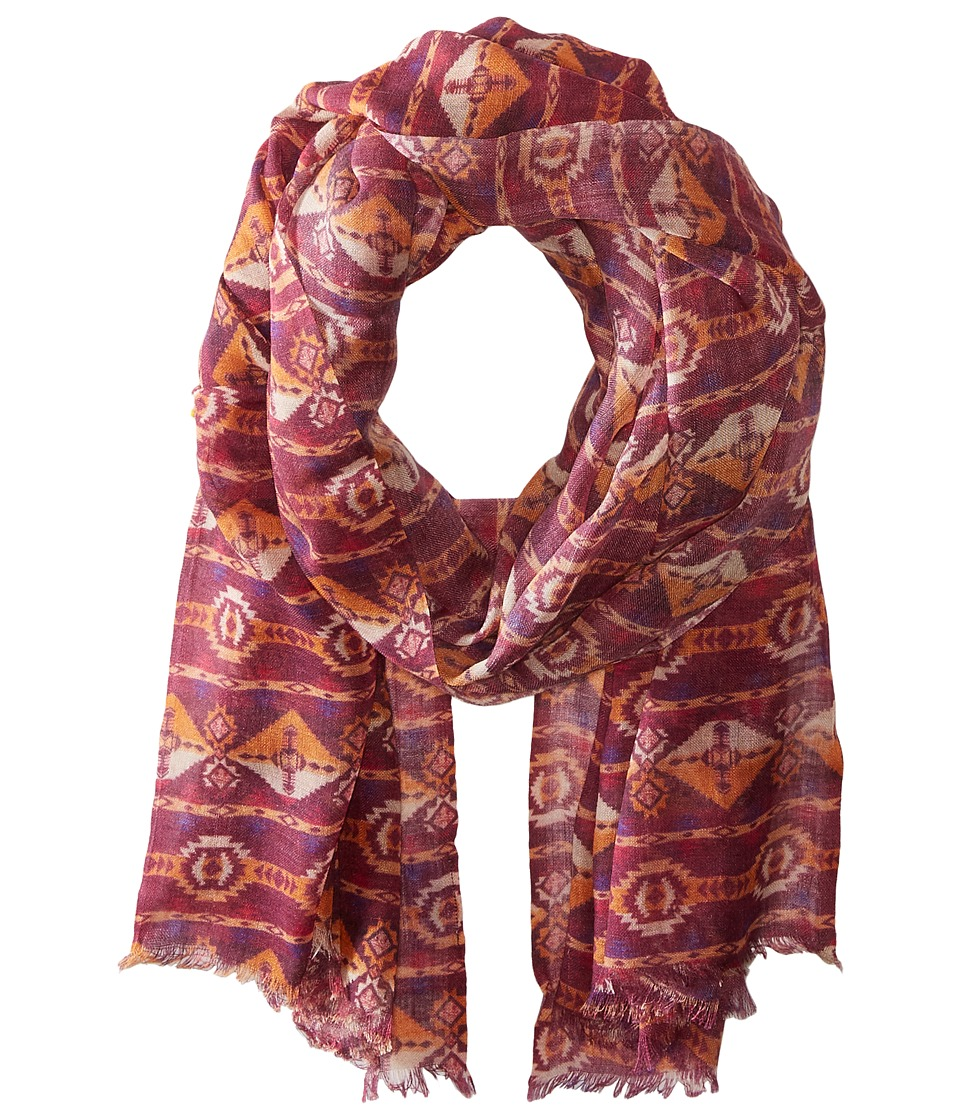 Bindya - Lulla by Bindya Shawl Striped Nav Scarf (Maroon) Scarves