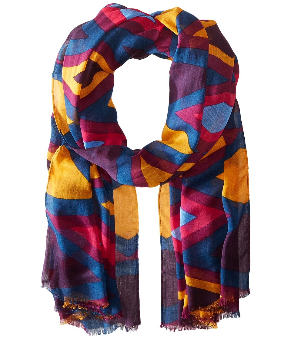 Bindya - Lulla by Bindya Triangle Scarf (Mustard/Pink/Blue) Scarves