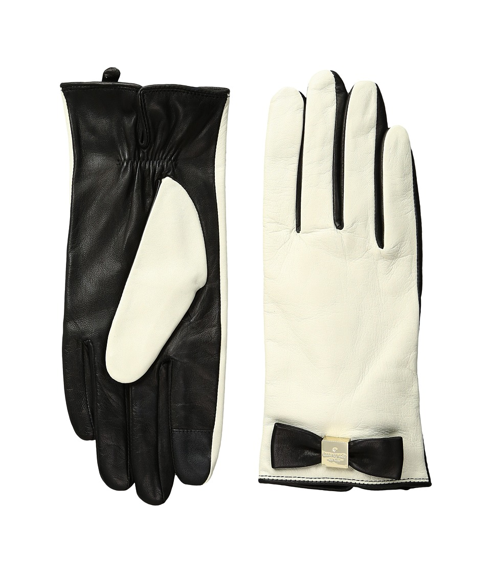 Kate Spade New York - Hardware Bow Tech Gloves (Cream/Black) Extreme Cold Weather Gloves