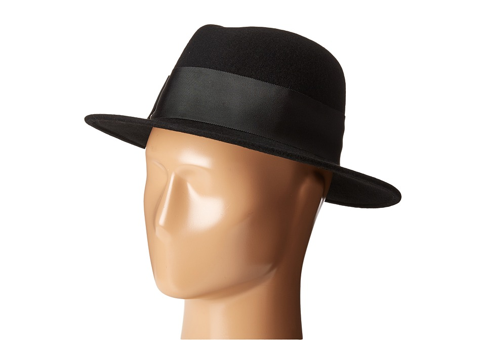Kate Spade New York - Fedora with Grosgrain Bow (Black) Fedora Hats
