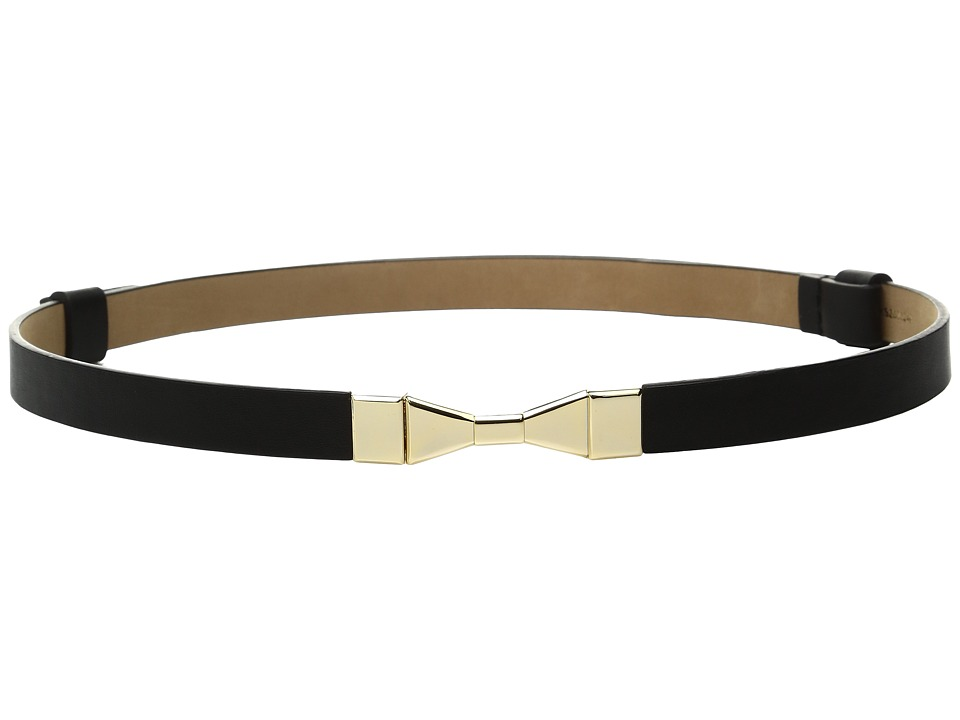 Kate Spade New York - 1/2 Calf Adjustable Bow Belt (Black) Women's Belts