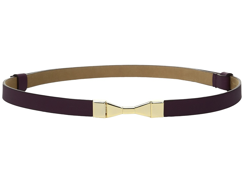Kate Spade New York - 1/2 Calf Adjustable Bow Belt (Midnight Wine) Women's Belts