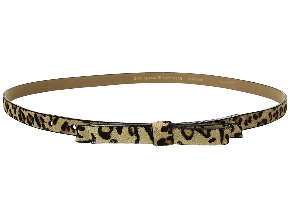 Kate Spade New York - 5/8 Haircalf Bow Belt (Natural Leopard) Women's Belts