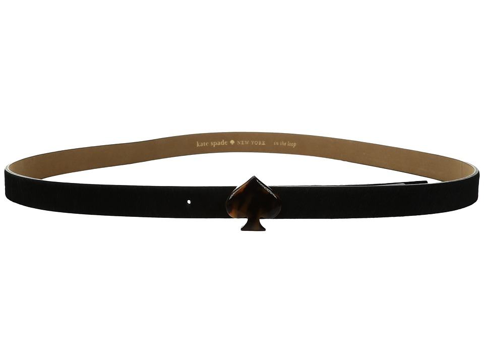 Kate Spade New York - 3/4 Haircalf Belt with Tortoise (Black) Women's Belts