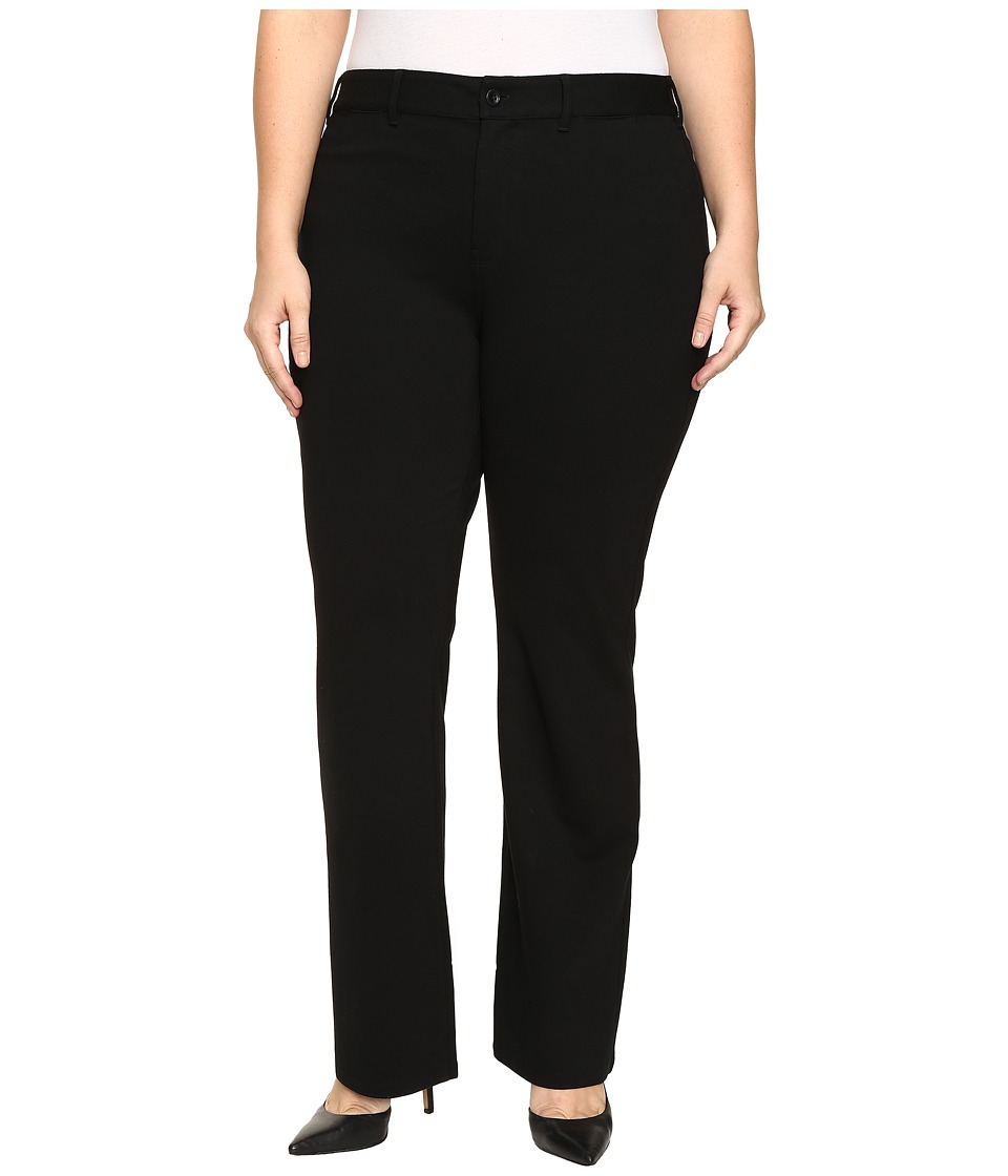 NYDJ Plus Size Plus Size Isabella Trousers in Ponte Knit in Black (Black) Women's Casual Pants