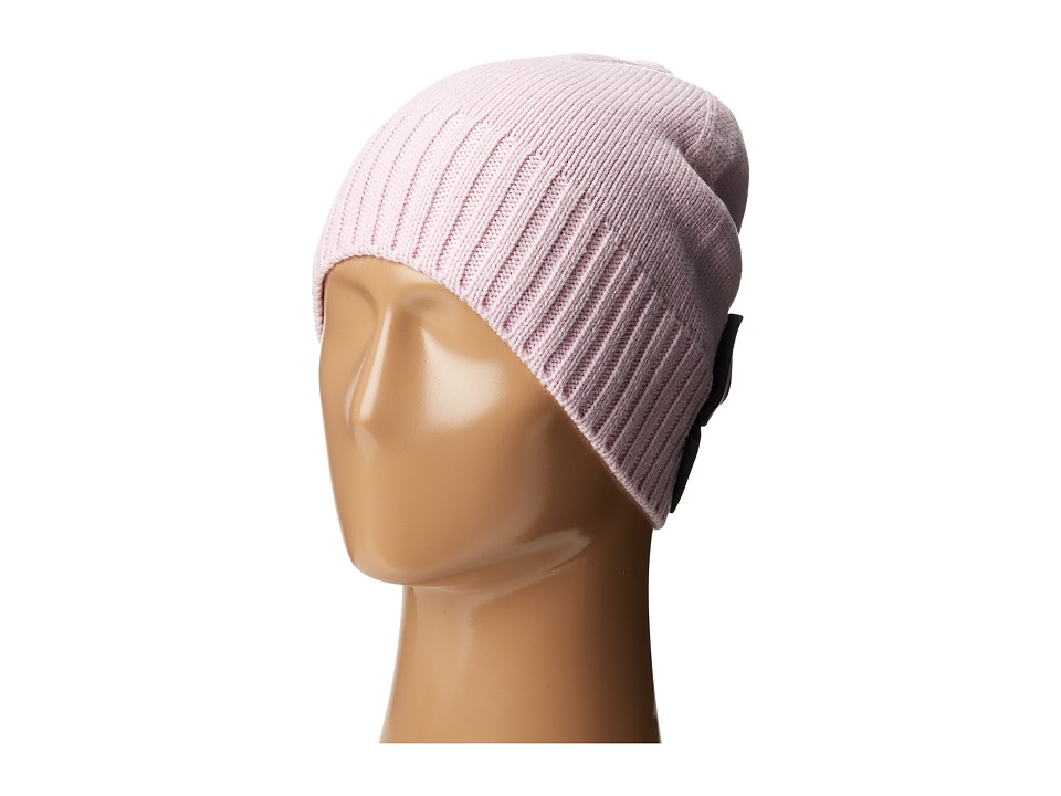 Kate Spade New York - Beanie with Grosgrain Bow (Orchid Frost/Black) Beanies
