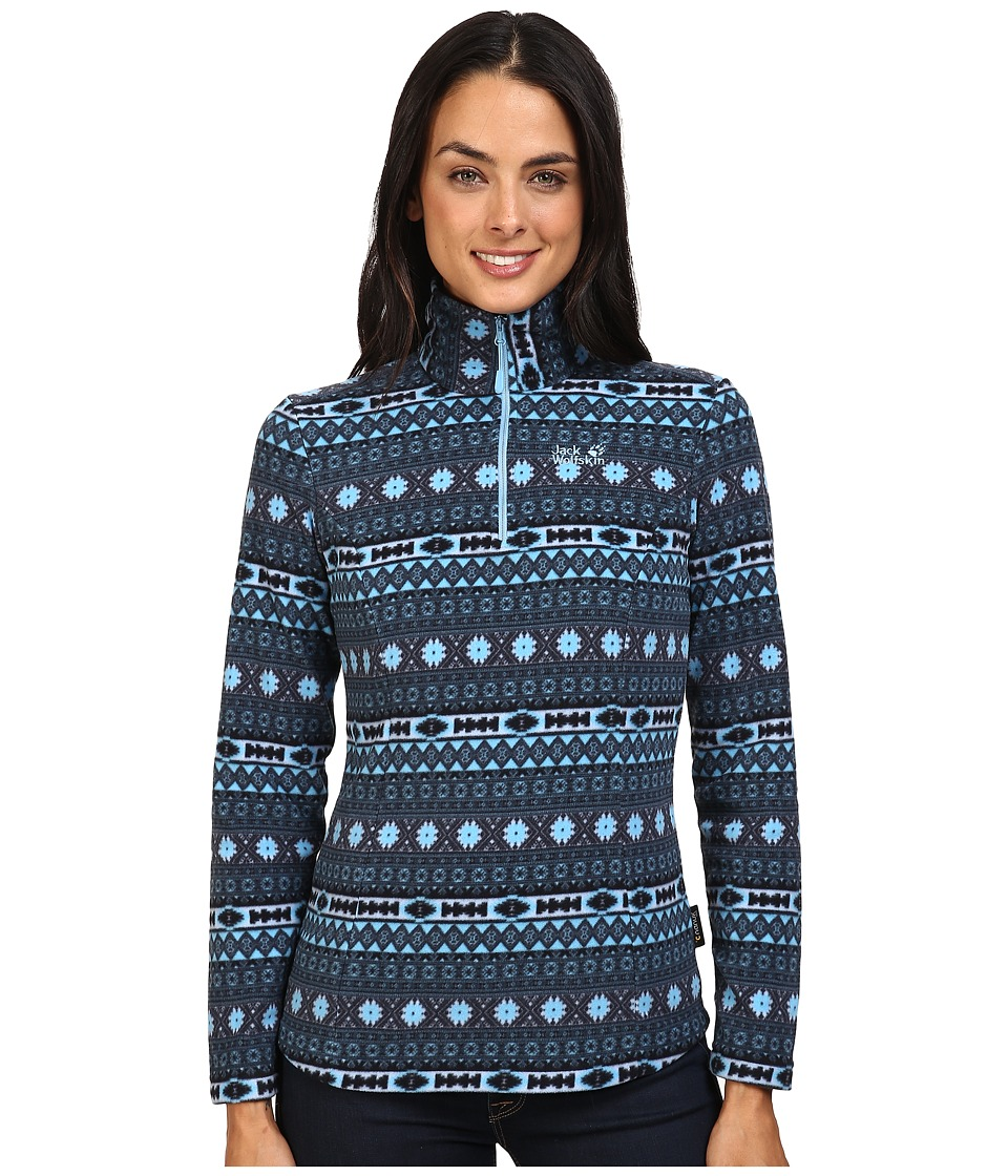 Jack Wolfskin - Ice Crystal Pullover (Light Sky All Over) Women's Clothing