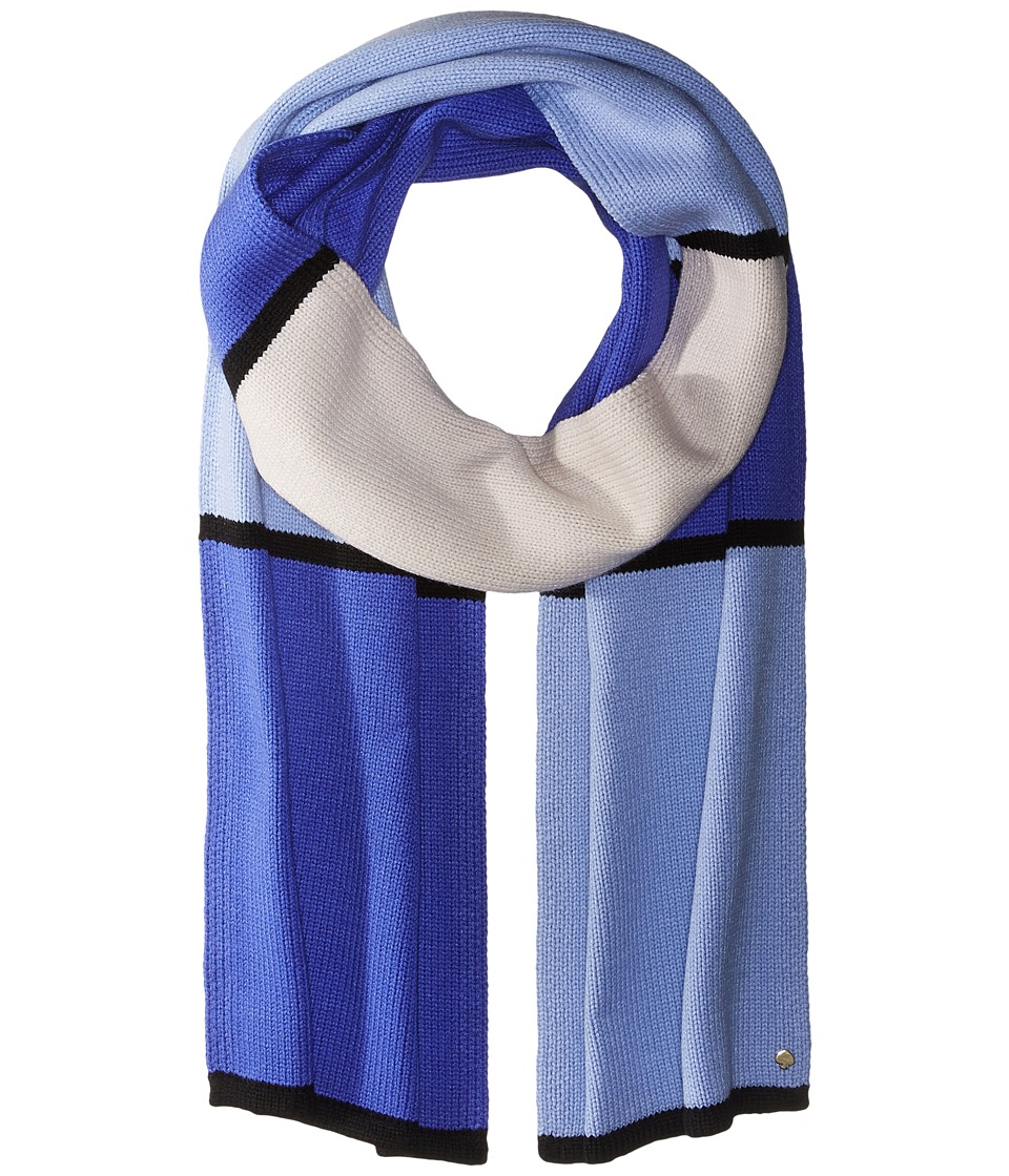 Kate Spade New York - Color Block Scarf (Ensemble Blue) Scarves