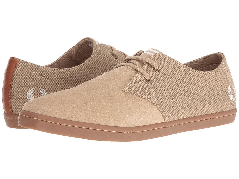 Fred Perry - Byron Low Twill Woven Canvas (Sandstorm/Ecru) Men's Shoes