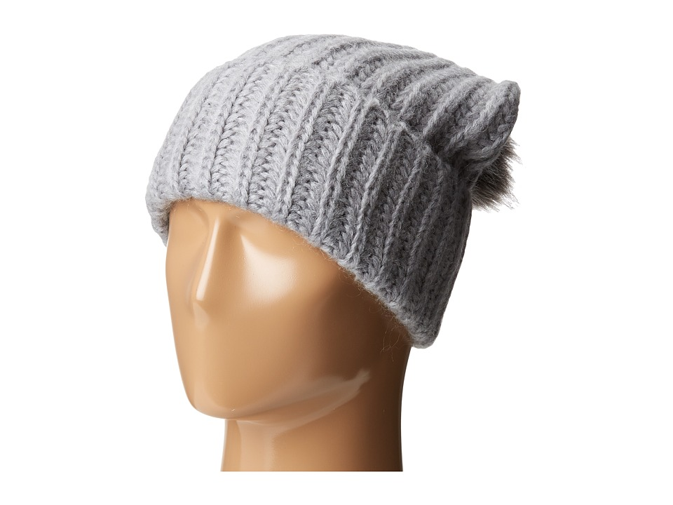 Kate Spade New York - Mohair Blend Beanie (Grey) Beanies