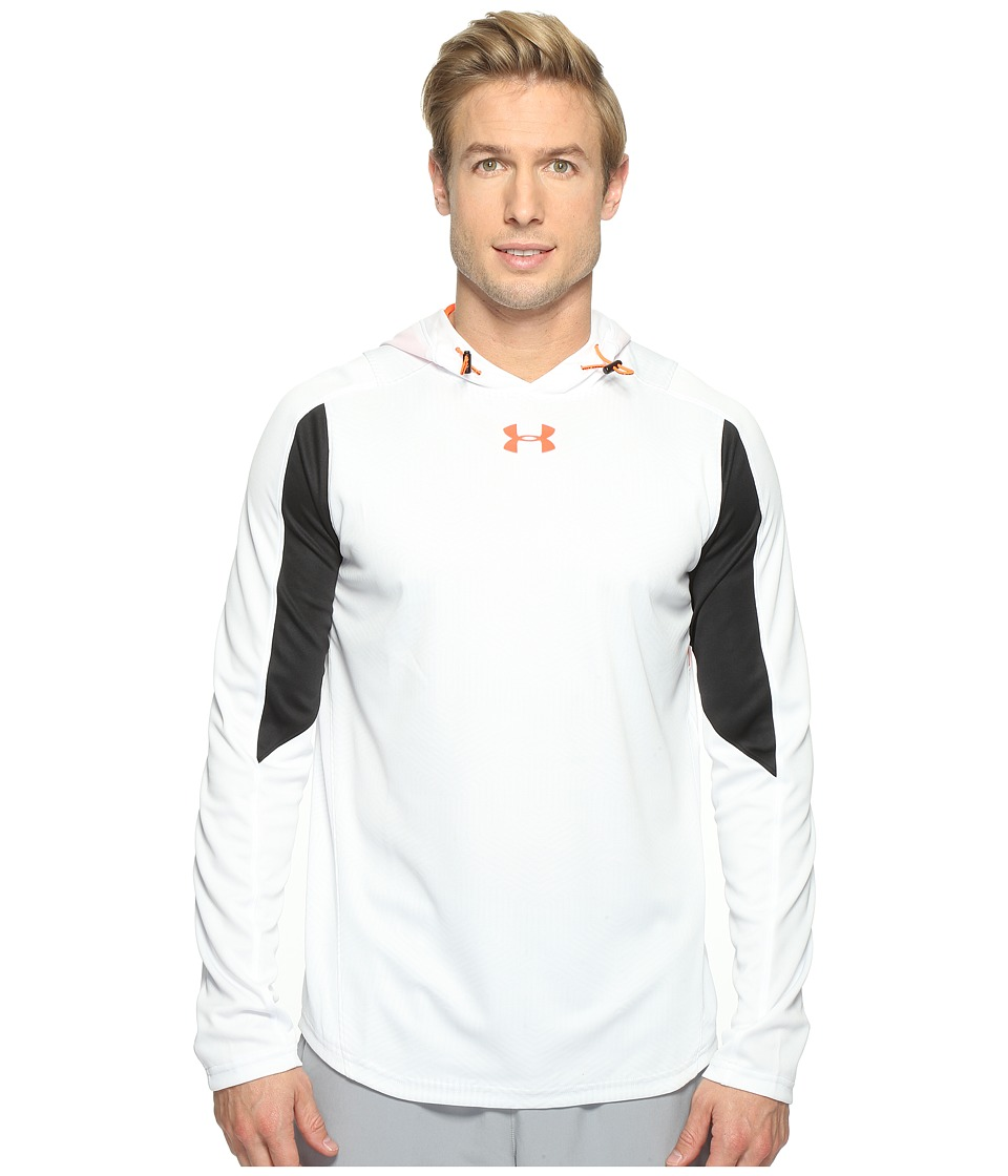 Under Armour - UA Select Shooting Shirt (White/Phoenix Fire) Men's Clothing