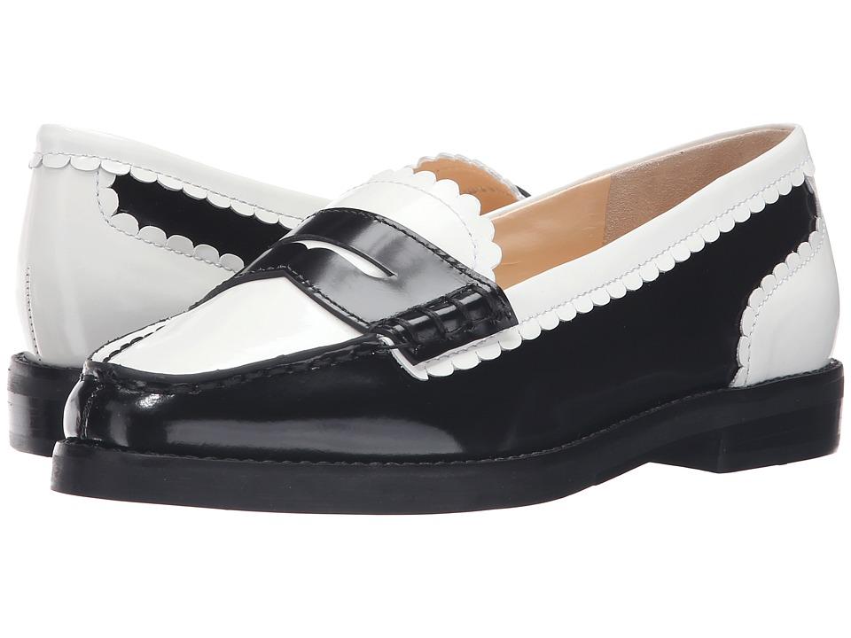 Isa Tapia - Caroline (Black/White Leather) Women's Shoes