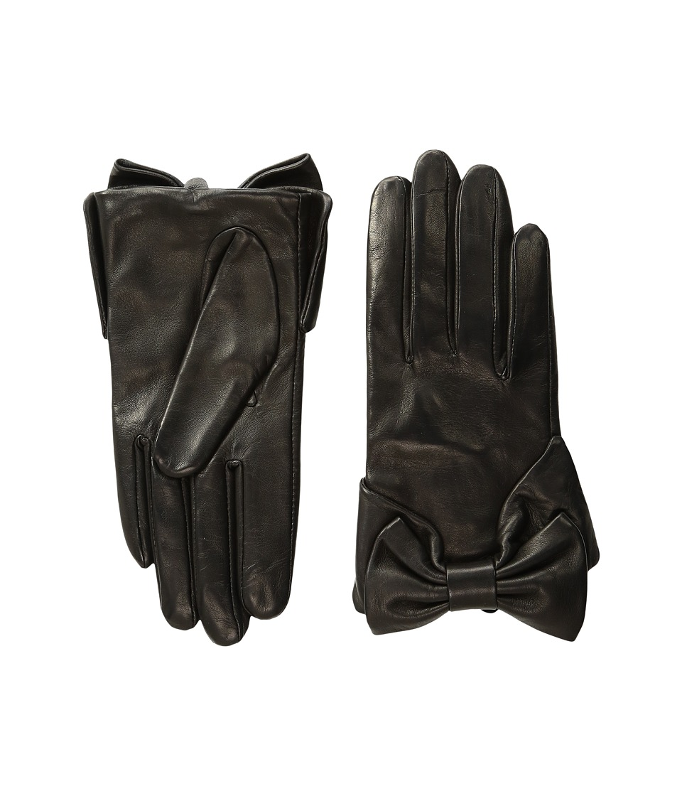 Kate Spade New York - Dorothy Bow Gloves (Black) Extreme Cold Weather Gloves