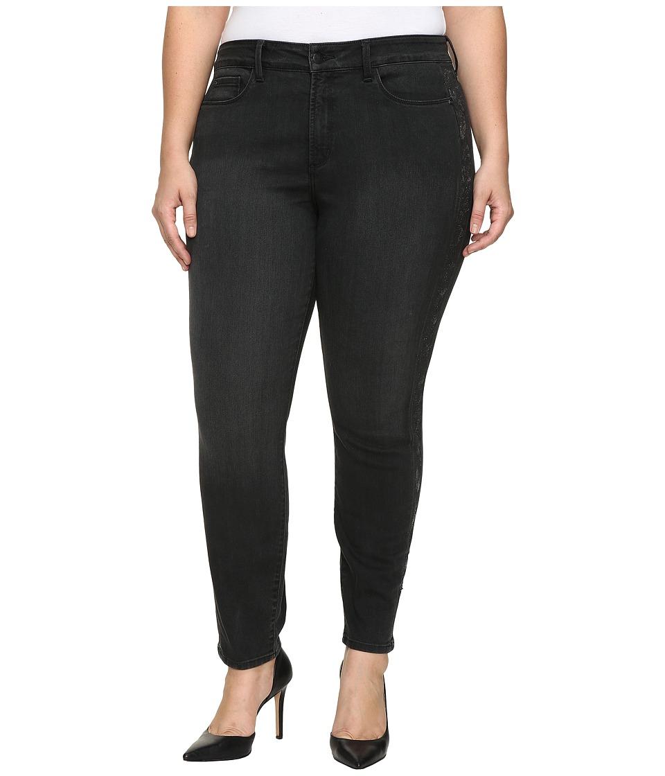 NYDJ Plus Size - Plus Size Alina Legging Jeans with Glitter Tuxedo Stripe in Bristol (Bristol) Women's Jeans