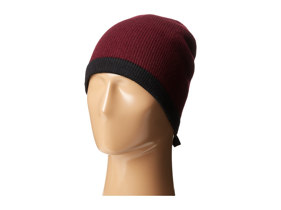 Kate Spade New York - Contrast Bow Beanie (Midnight Wine/Black) Beanies