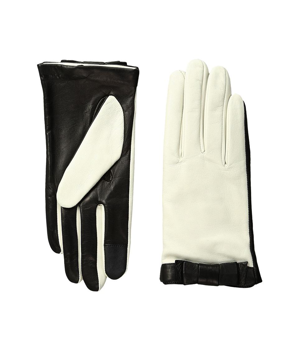 Kate Spade New York - Color Block Bow Short Gloves (Light Shale/Black) Extreme Cold Weather Gloves
