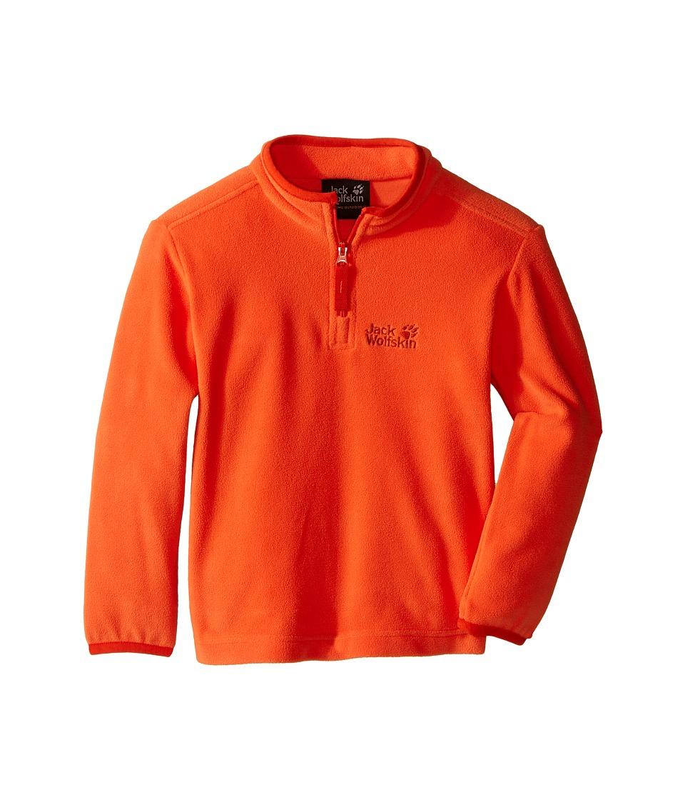 Jack Wolfskin Kids - Gecko Nanuk 1/2 Zip (Infant/Toddler) (Flame Orange) Boy's Clothing