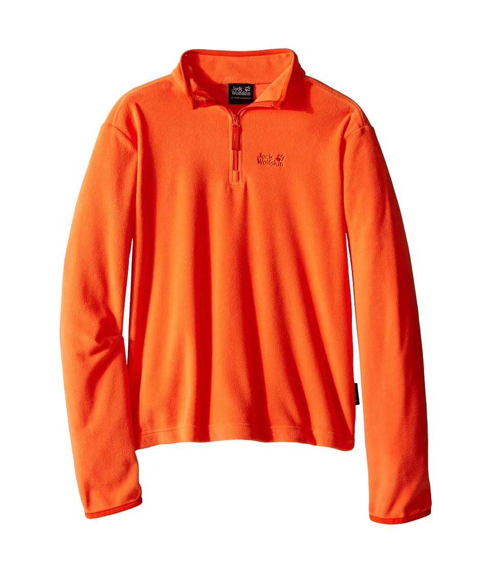 Jack Wolfskin Kids - Gecko Nanuk 1/2 Zip (Little Kid/Big Kid) (Flame Orange) Boy's Clothing
