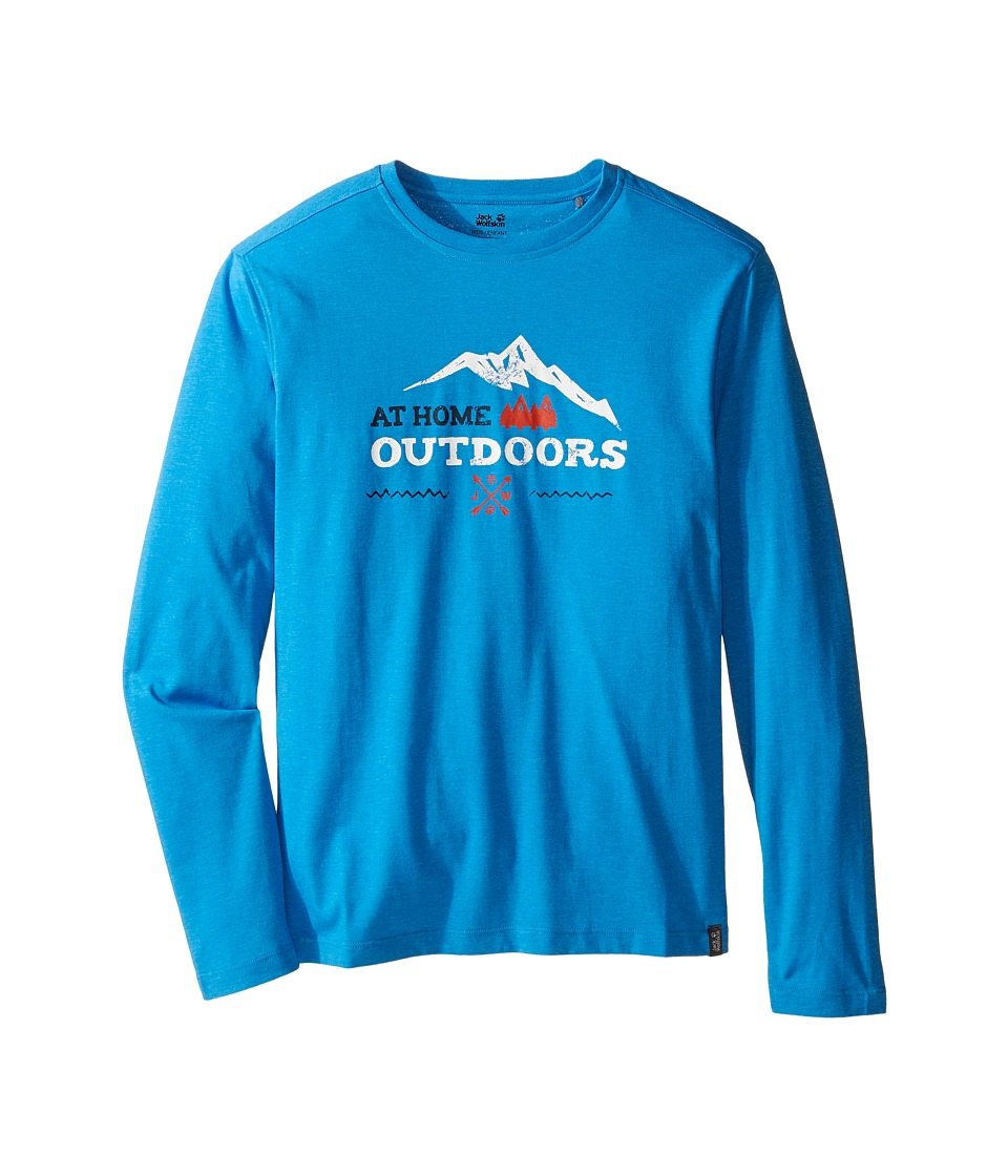 Jack Wolfskin Kids - Mountain Range Long Sleeve (Infant/Toddler/Little Kids/Big Kids) (Brilliant Blue) Boy's Clothing