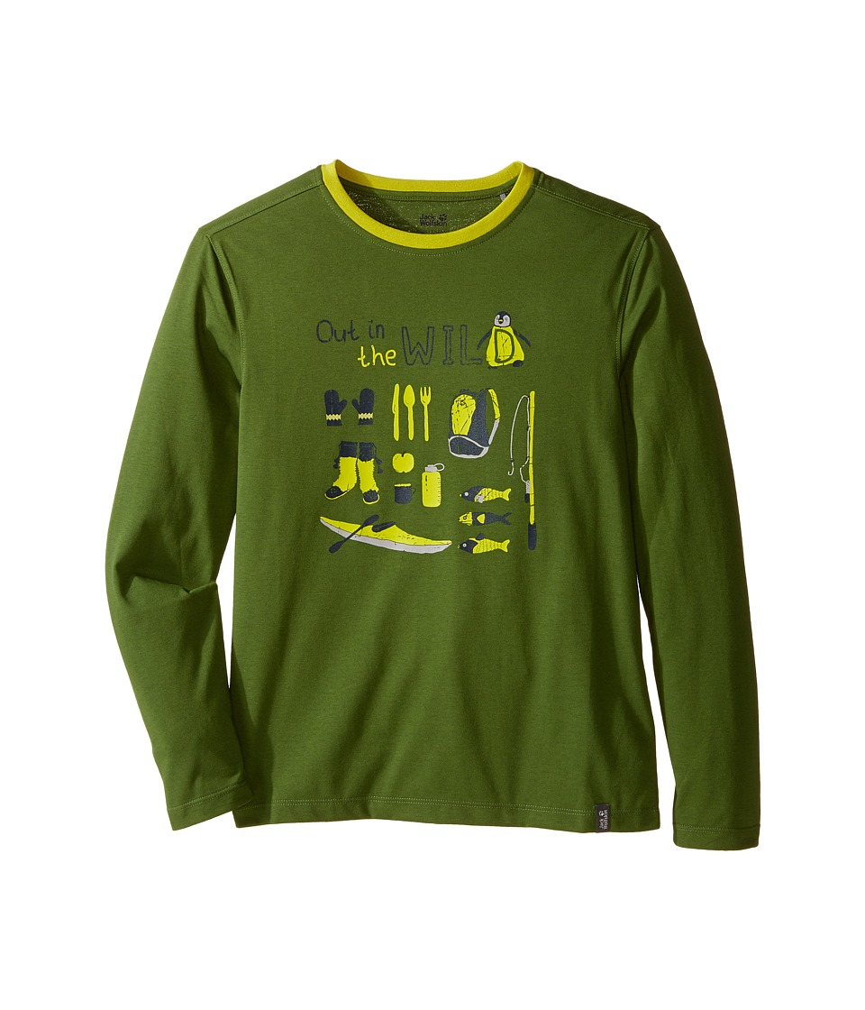 Jack Wolfskin Kids - Out in The Wild Long Sleeve (Infant/Toddler/Little Kids/Big Kids) (Deep Forest) Boy's Clothing