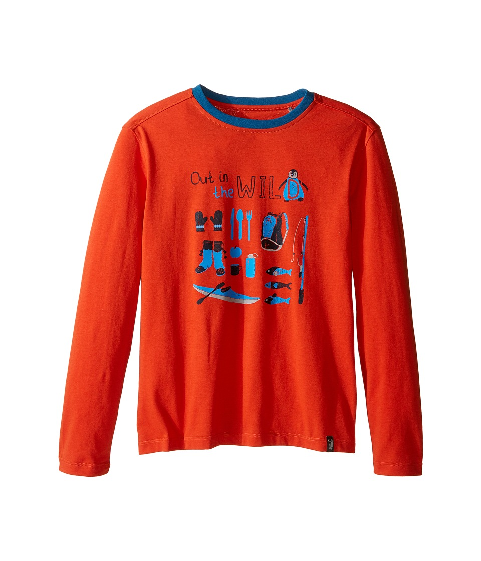 Jack Wolfskin Kids - Out in The Wild Long Sleeve (Infant/Toddler/Little Kids/Big Kids) (Dark Satsuma) Boy's Clothing