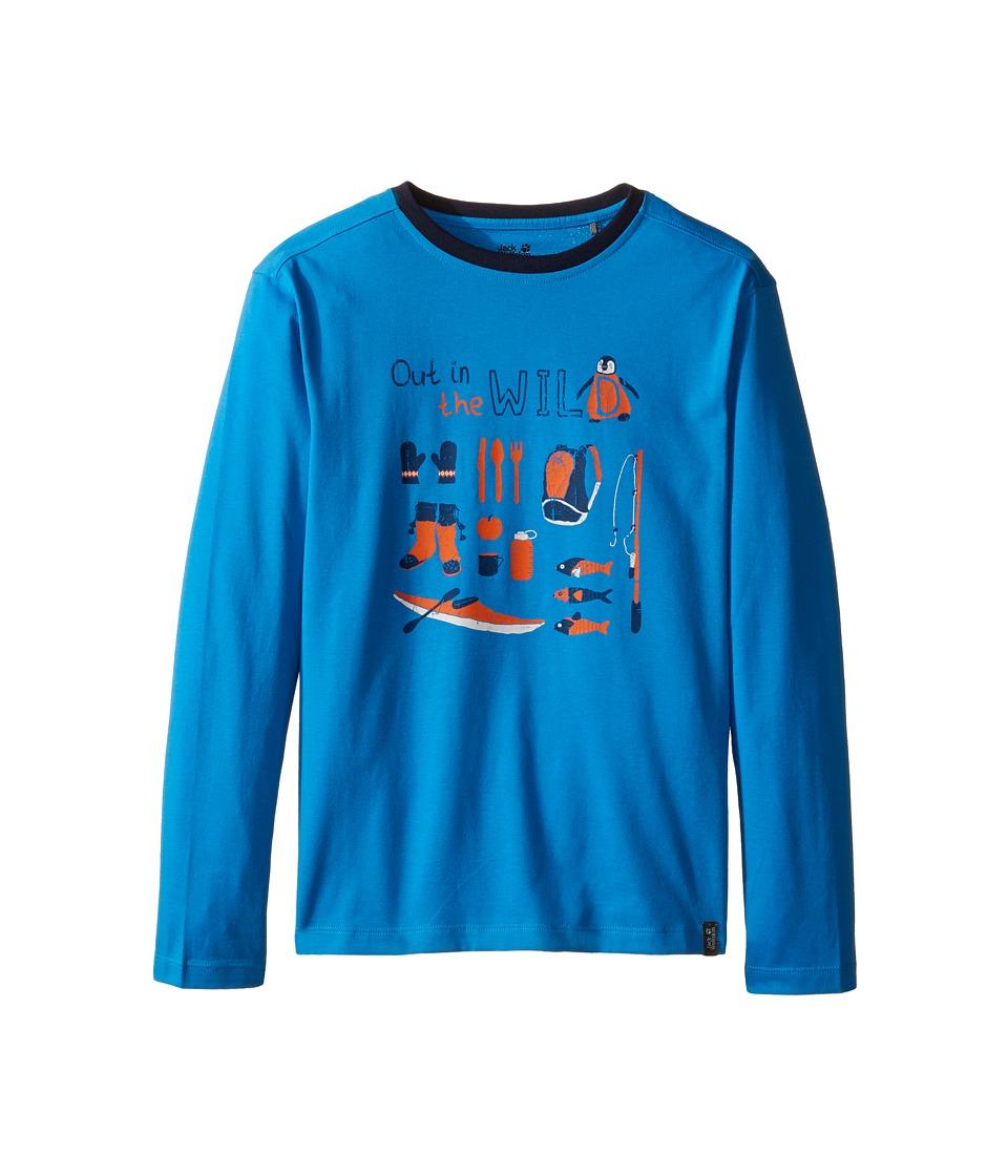 Jack Wolfskin Kids - Out in The Wild Long Sleeve (Infant/Toddler/Little Kids/Big Kids) (Brilliant Blue) Boy's Clothing