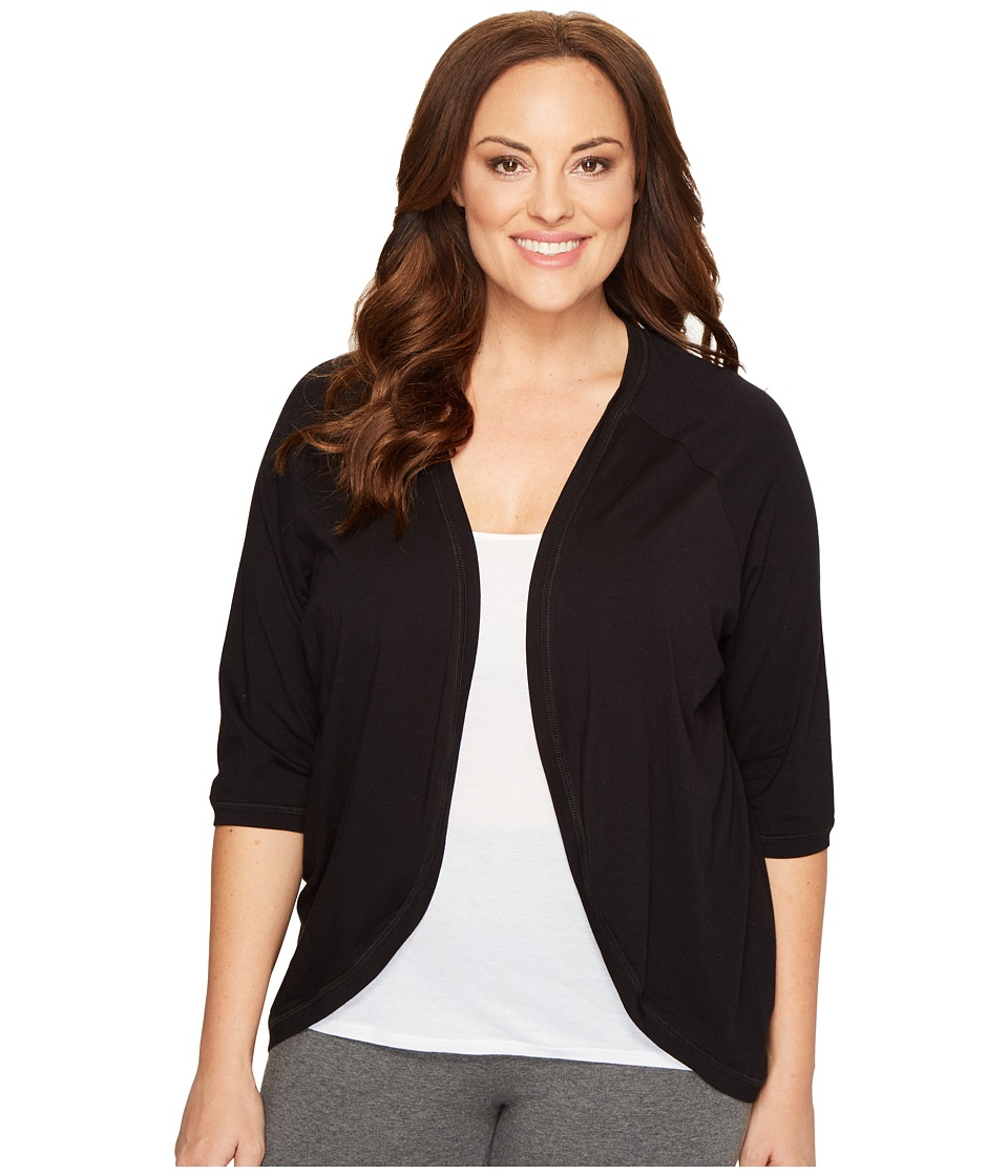 Soybu - Plus Size Crosstown Cardigan (Black) Women's Sweater