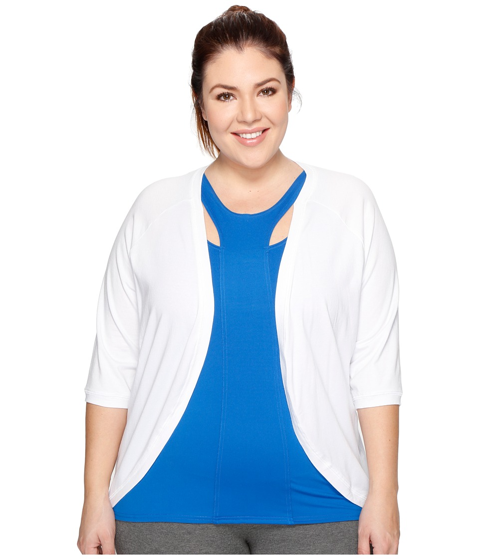 Soybu - Plus Size Crosstown Cardigan (White) Women's Sweater