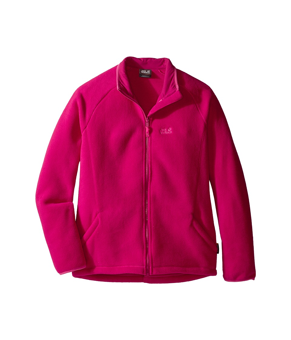 Jack Wolfskin Kids - Thunder Bay Fleece Jacket (Infant/Toddler/Little Kids/Big Kids) (Azalea Red) Girl's Coat