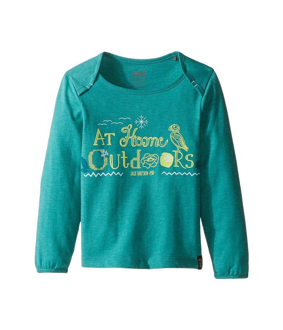 Jack Wolfskin Kids - Atlantic Puffin Long Sleeve (Infant/Toddler/Little Kids/Big Kids) (Spearmint) Girl's Clothing