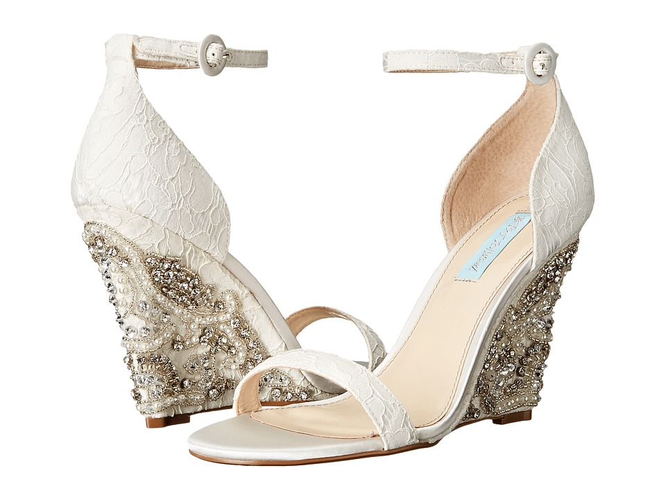 Blue by Betsey Johnson - Alisa (Ivory) Women's Wedge Shoes