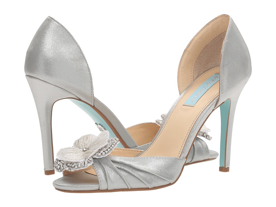 Blue by Betsey Johnson - Emma (Silver Shimmer) High Heels