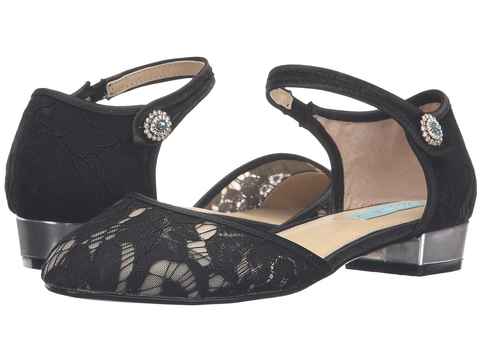 Blue by Betsey Johnson - Lila (Black Lace) Women's Flat Shoes