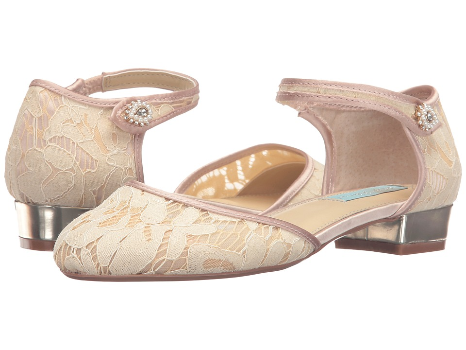 Blue by Betsey Johnson - Lila (Champagne Fabric) Women's Flat Shoes