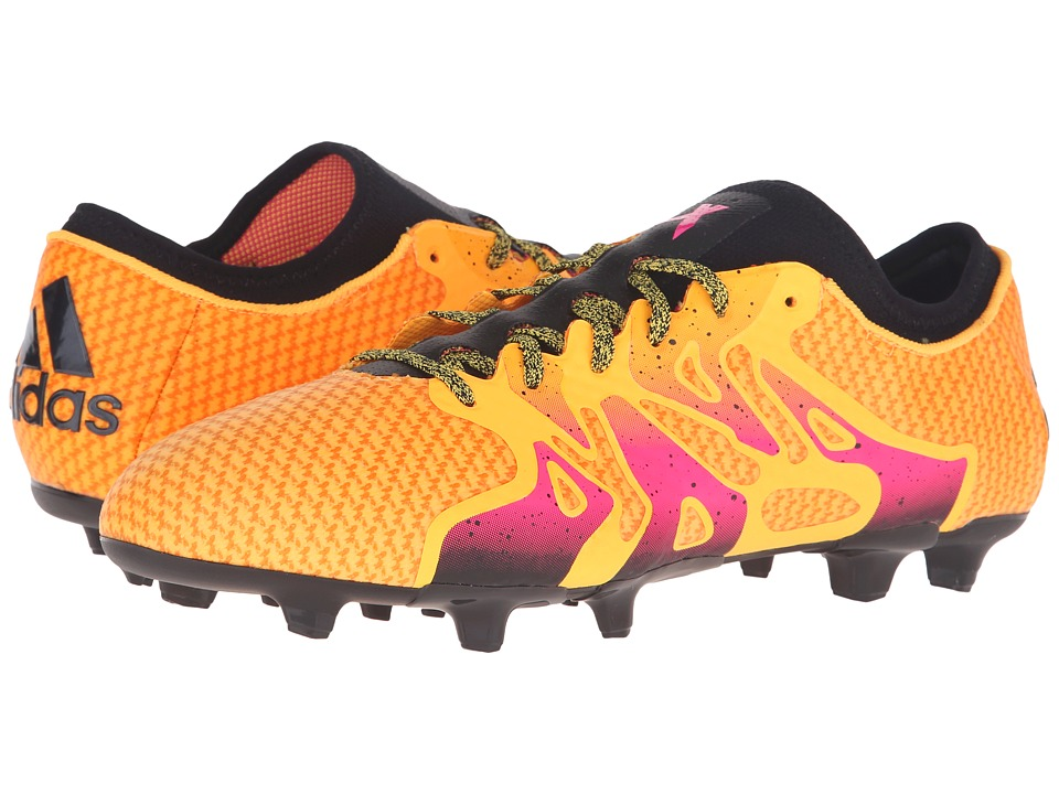 adidas - X 15+ Primeknit FG/AG (Gold/Shock Pink/Black) Men's Shoes