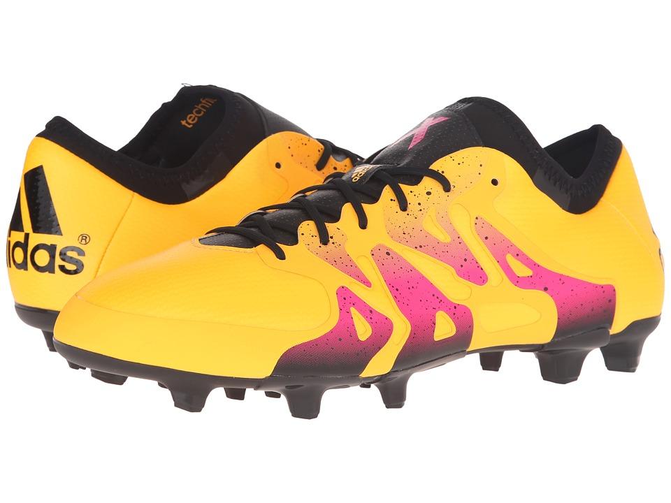adidas - X 15.1 FG/AG (Gold/Black/Shock Pink) Men
