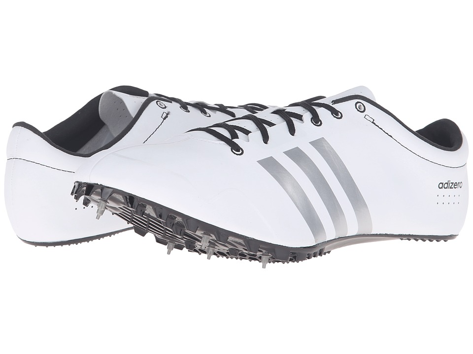 adidas - Adizero Prime SP (White/Silver/Black) Athletic Shoes