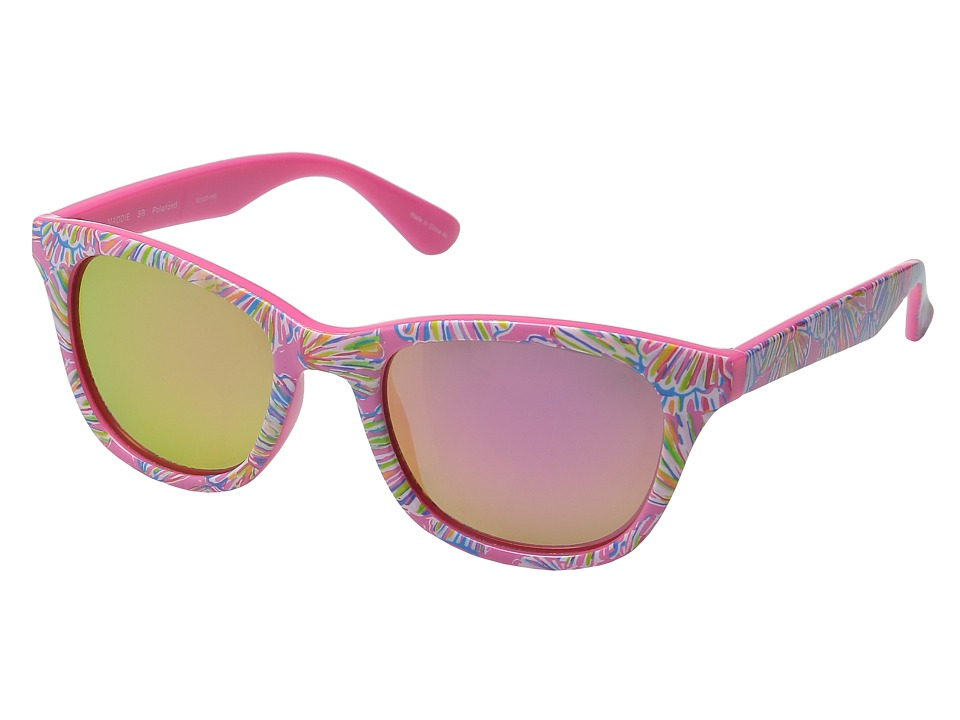 Lilly Pulitzer - Maddie (Polarized) (Polarized Light Pink Mirror) Polarized Fashion Sunglasses