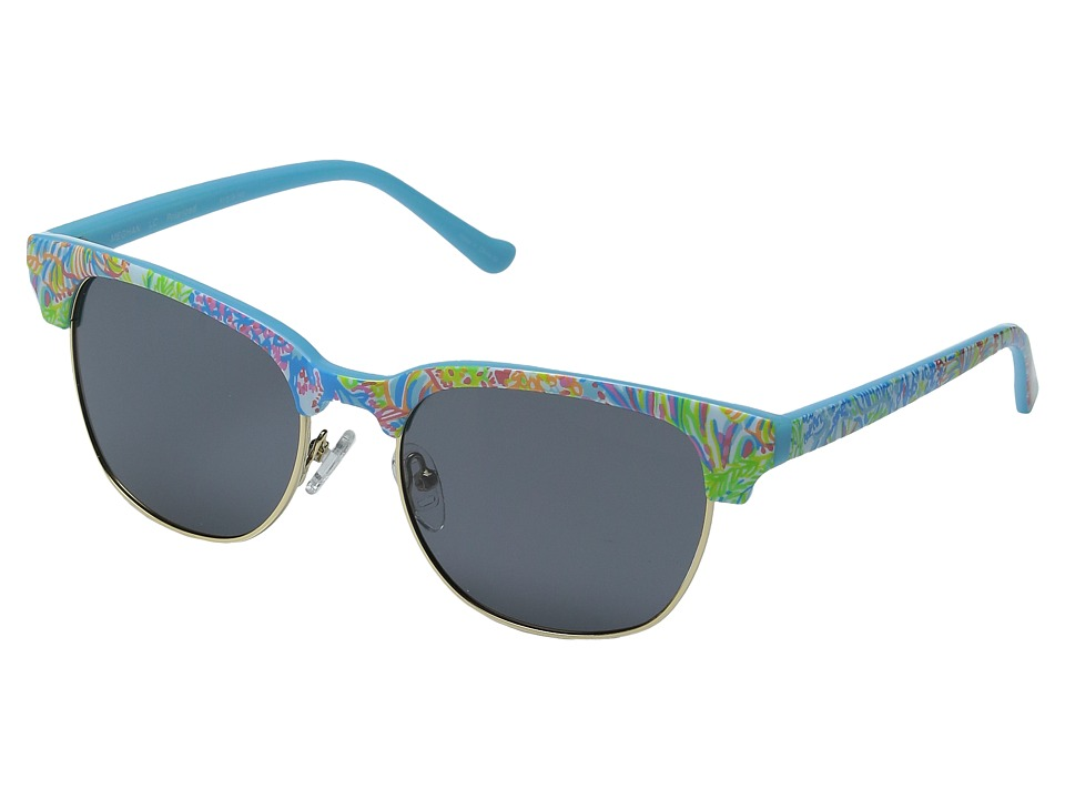 Lilly Pulitzer - Meghan (Polarized) (Polarized Smoke) Polarized Fashion Sunglasses