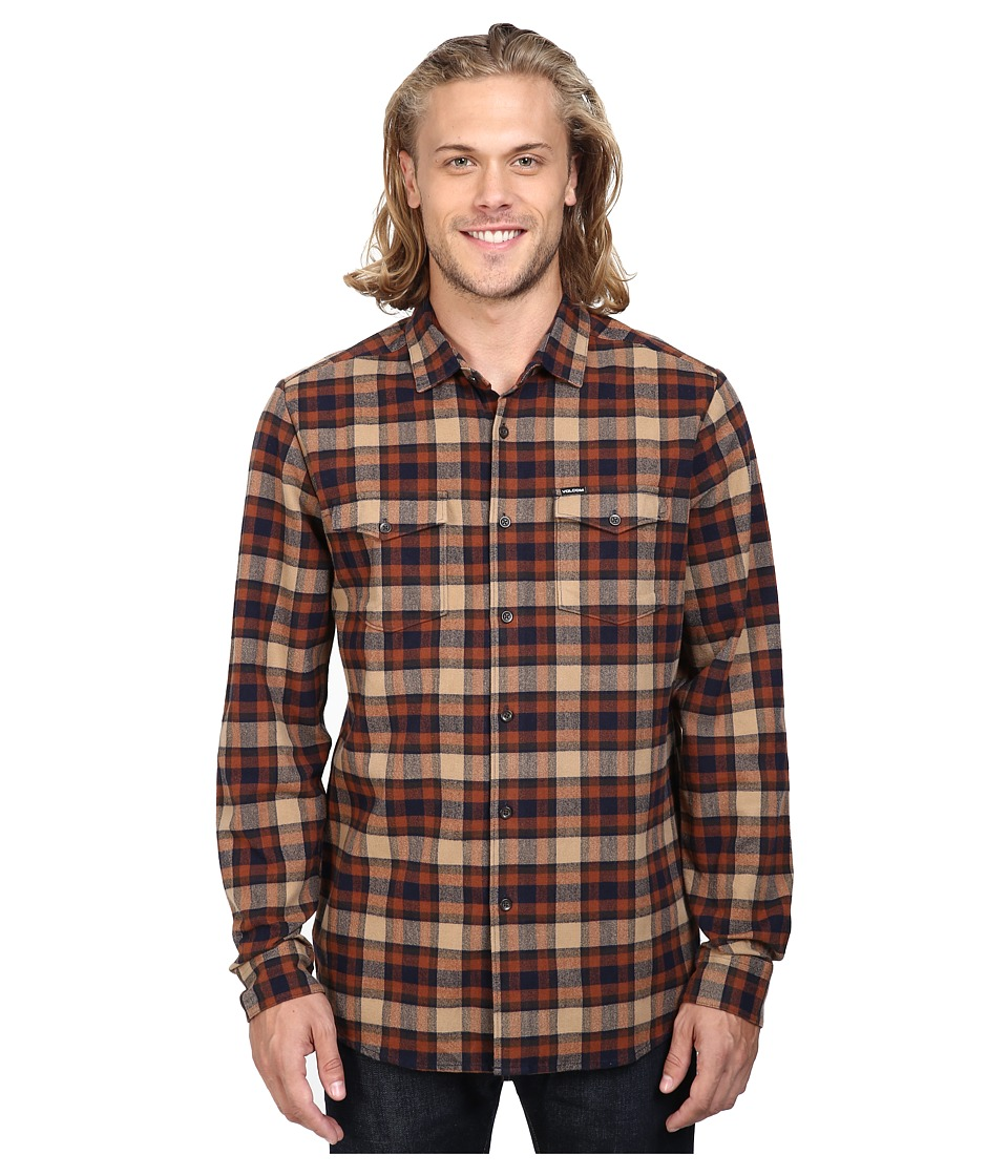 Volcom - Martens Heavy Weight Lined Flannel (Gravel) Men's Clothing