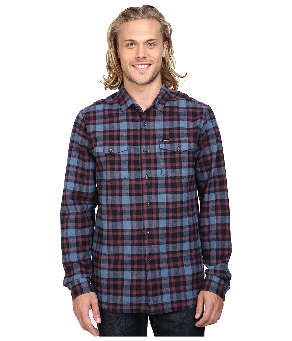 Volcom - Martens Heavy Weight Lined Flannel (Blue Fog) Men's Clothing
