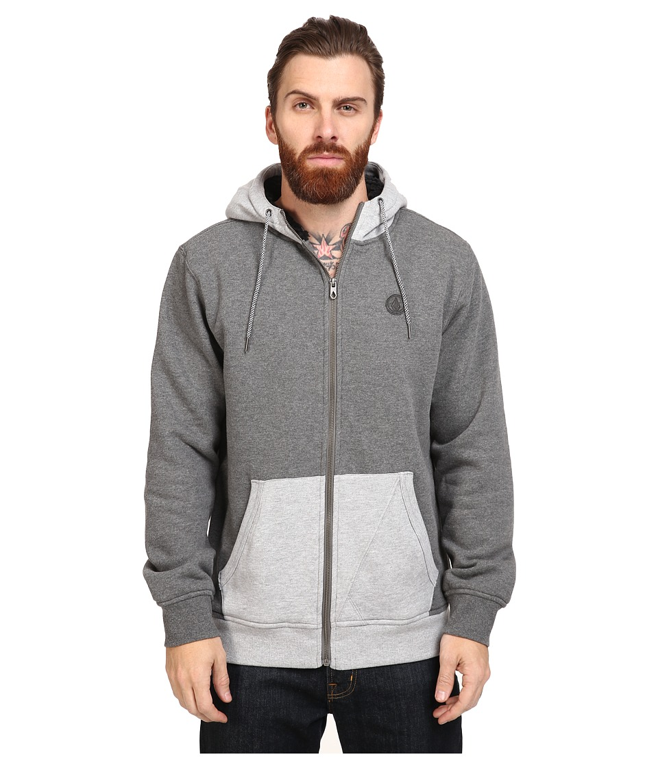 Volcom - Single Stone Sherpa Lined Zip (Dark Gray Heather) Men's Clothing