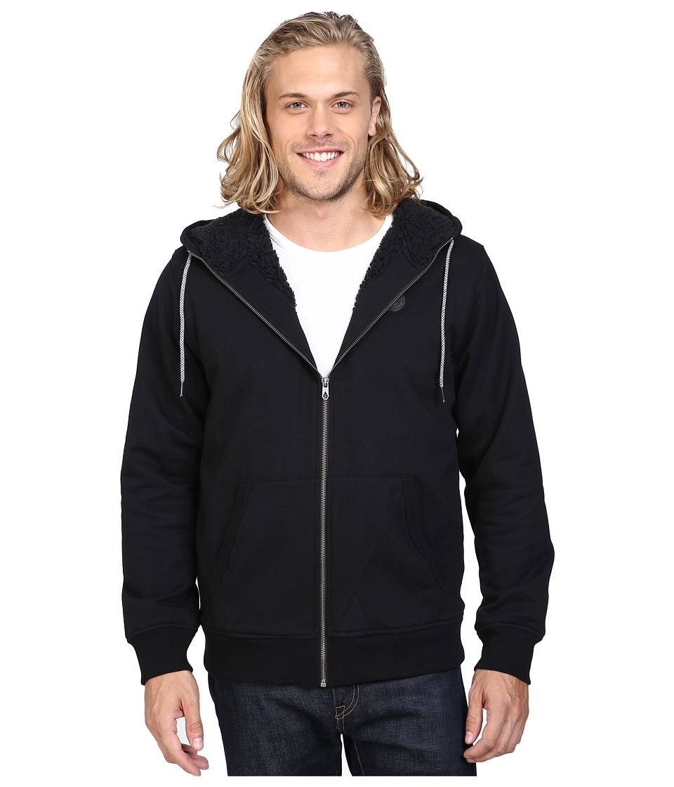 Volcom - Single Stone Sherpa Lined Zip (Black) Men's Clothing