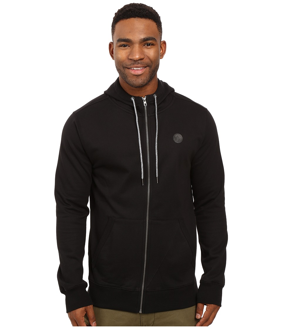 Volcom - Single Stone Premium Zip (Black) Men's Clothing