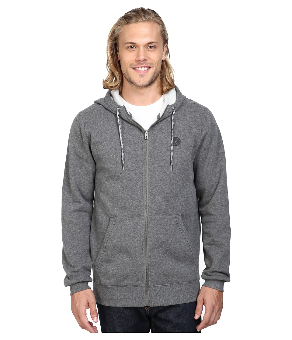 Volcom - Single Stone Premium Zip (Dark Grey) Men's Clothing